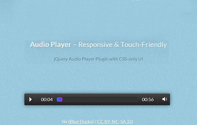 支持触摸设备的CSS3响应式HTML5音频播放器