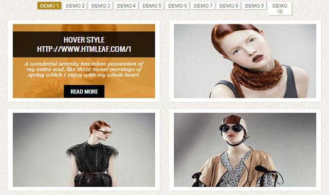 10种纯CSS3 transform鼠标悬停到图片上过渡动画效果