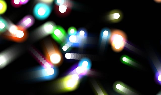 HTML5 Canvas彩色的光粒子模拟粒子运动动画效果