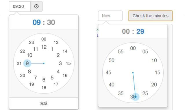 clockpicker-时钟样式的Bootstrap和jquery日期时间选择器