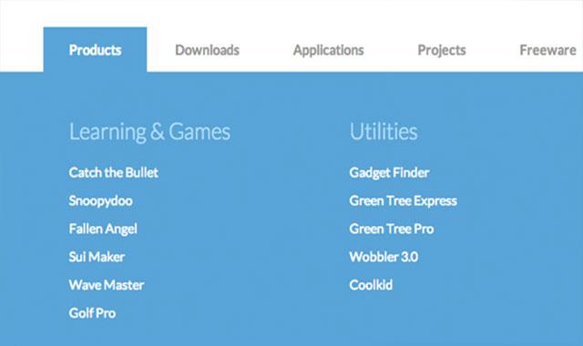 jquery仿微软Microsoft网站的横向下拉菜单代码