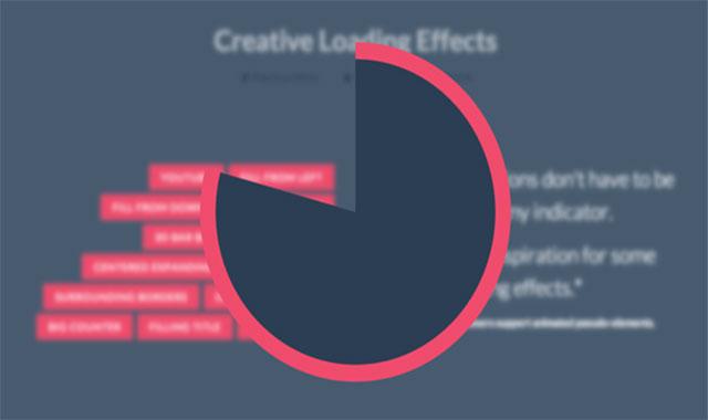 13种创意html5+css3加载动画loading效果进度条