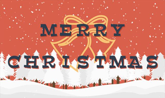 html5 svg打开圣诞礼盒和下雪动画效果