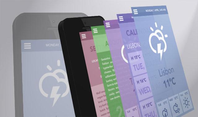 html5+css3移动手机(Mobile) App展示3d动画效果