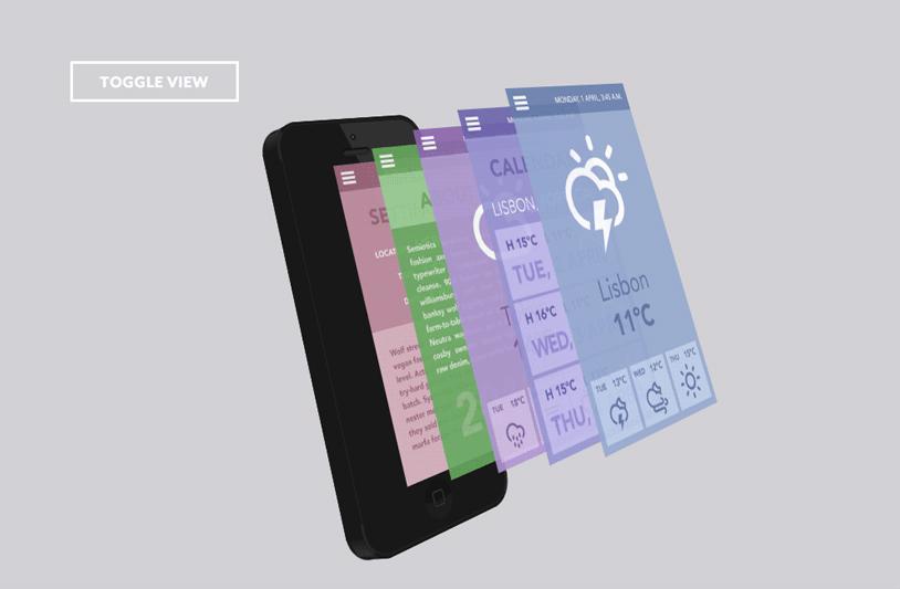 移动手机App展示