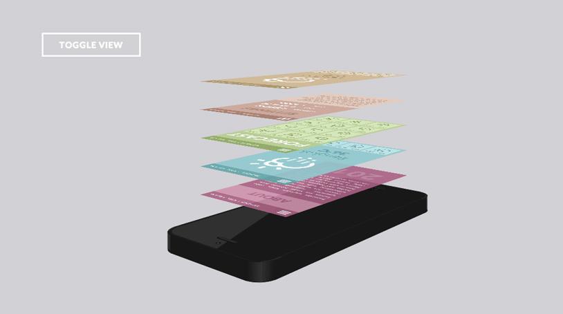 移动手机App展示的第二种效果