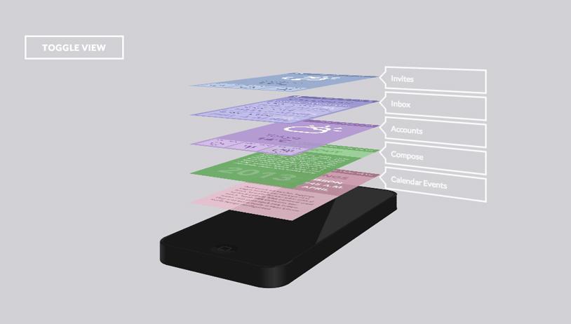 移动手机App展示的第三种效果
