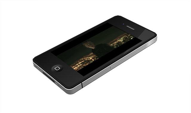 html5纯css3带自动视频播放的iPhone4手机360度旋转展示