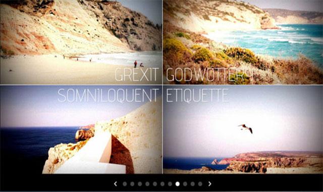 jquery带3d图片翻转的幻灯片画廊效果
