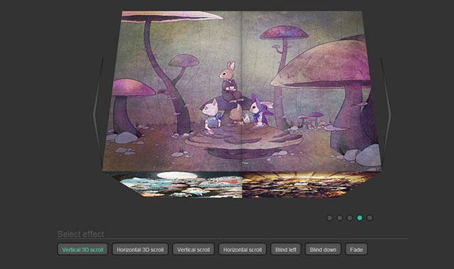 jquery图片旋转3d幻灯片插件