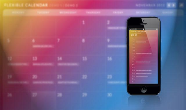 全屏响应式的jQuery日历插件