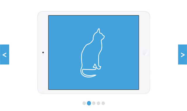 简洁大气的jQuery响应式全屏幻灯片特效代码