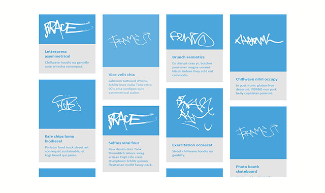 Blueprint:Google风格的网格布局css画廊