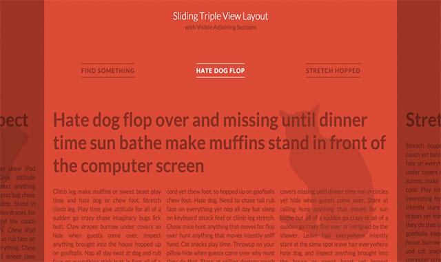 html5横向滑动切换文章页面布局