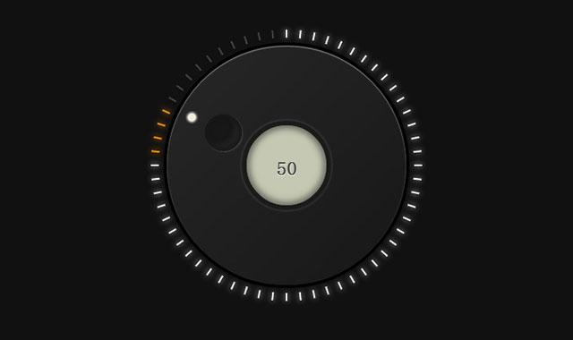 jQuery和css3音量调节旋钮插件