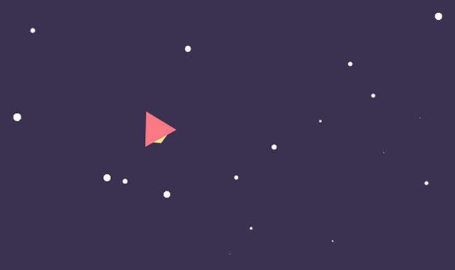 html5 canvas纸飞机跟随鼠标飞行动画