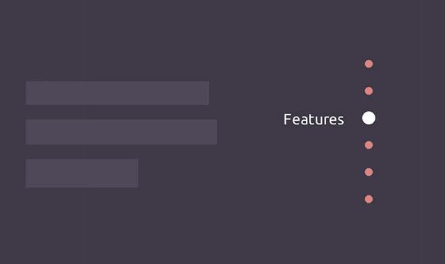 jQuery和css3响应式垂直固定导航菜单插件