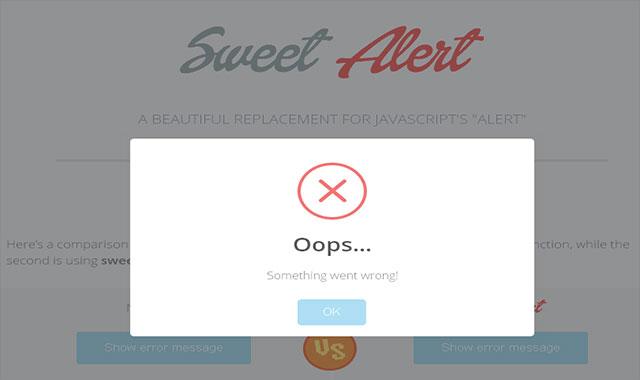 SweetAlert-js超酷消息警告框插件