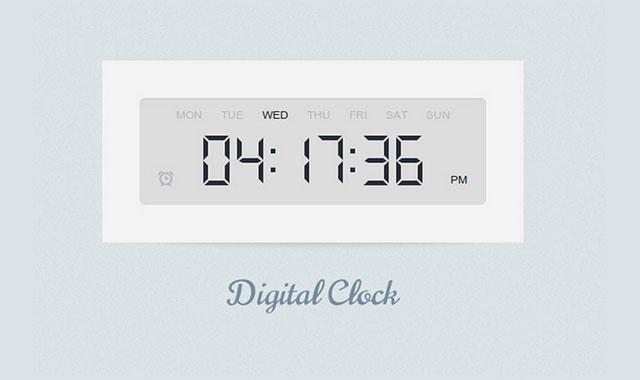 html5超逼真带定时功能的电子数字时钟