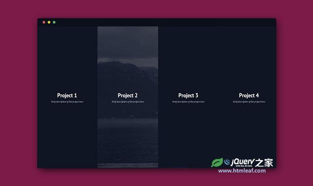 jQuery和css3带全屏背景图片可放大的栏目导航特效