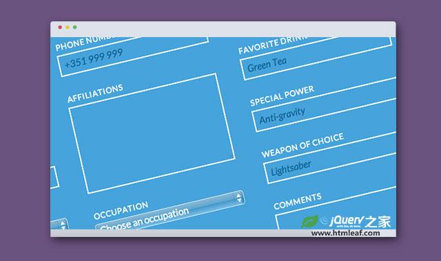 HTML5超酷响应式表单美化模板插件