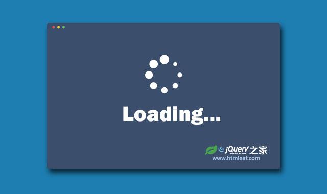 jQuery炫酷页面预加载Loading特效插件