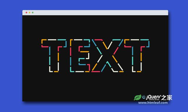 HTML5 SVG和CSS3超酷文字遮罩动画特效