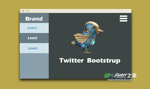 基于Bootstrap的jQuery隐藏滑动侧边栏特效插件
