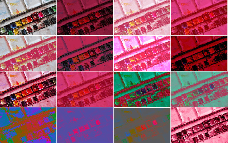 css中的16种混合模式合成图片