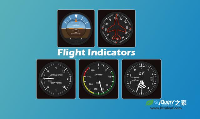 jQuery高质量飞行仪表指示器插件