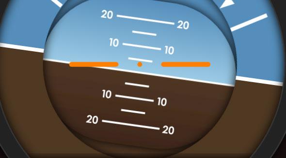 高质量的飞行仪表指示器