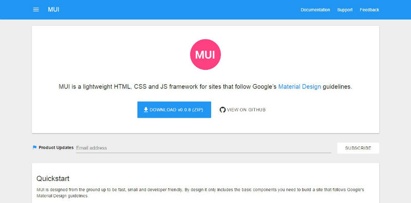 MUI CSS框架