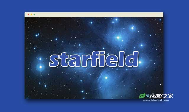 HTML5 canvas绚丽宇宙星空背景特效jQuery插件