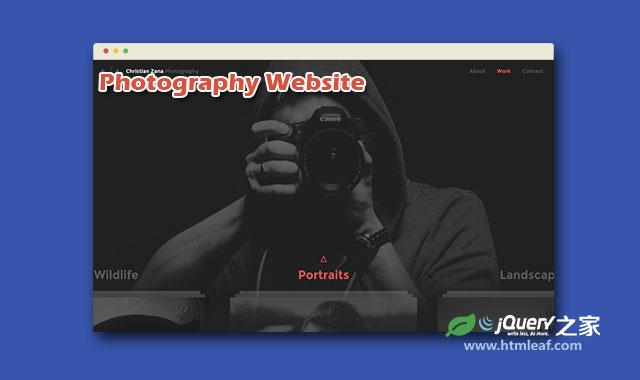 HTML5和CSS3超酷创意摄影图片网站模板