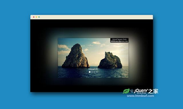 流光溢彩的Bootstrap响应式幻灯片特效