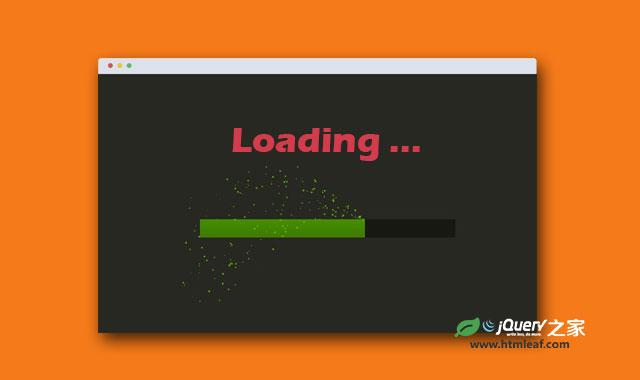 HTML5 canvas粒子飞射的loading进度条特效