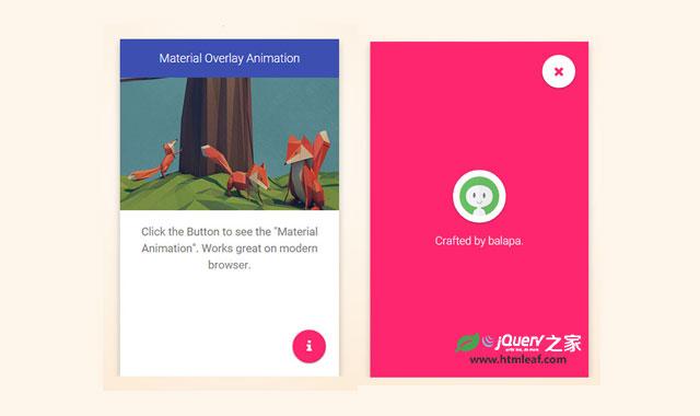 jQuery和CSS3仿谷歌Material Design变形全屏遮罩特效
