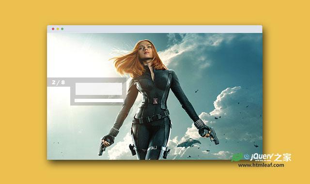 jQuery和CSS3炫酷全屏垂直滚动切换幻灯片特效