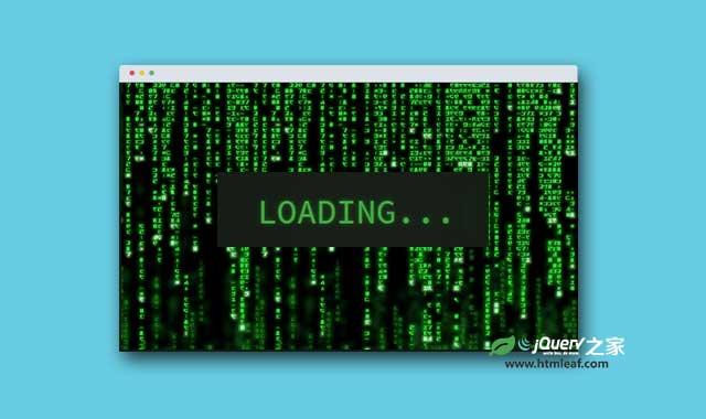 jQuery创意loading文字动画特效