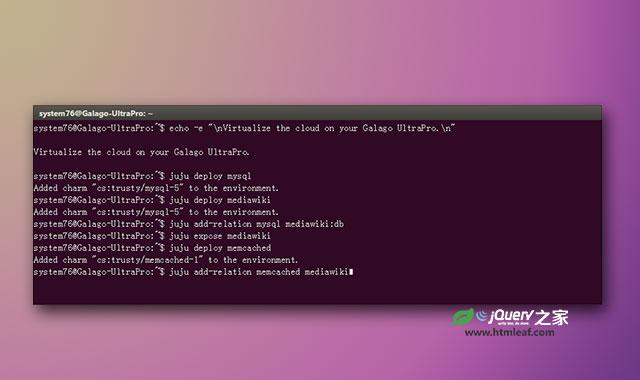高仿真的Ubuntu控制台键入和输出指令动画特效