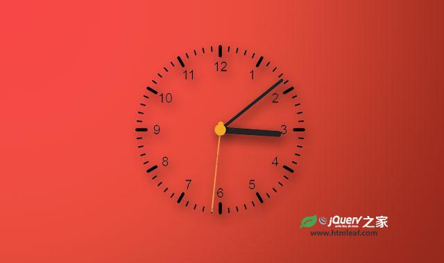HTML5 canvas超逼真的模拟时钟特效