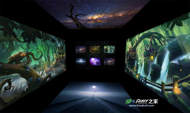 超酷3D立方体空间旋转图片画廊特效