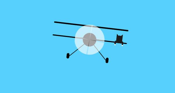 纯CSS3制作飞机动画特效