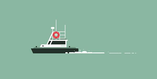 纯CSS3制作轮船动画特效