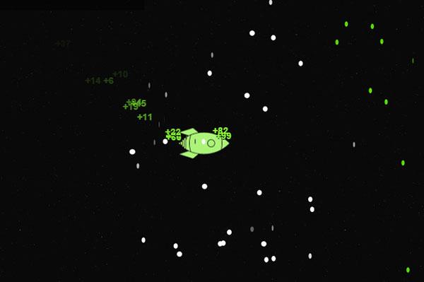 飞船捡金币小游戏01