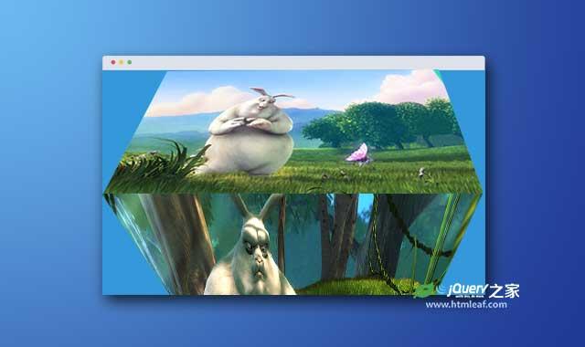 jQuery和CSS3炫酷全屏3D旋转幻灯片特效