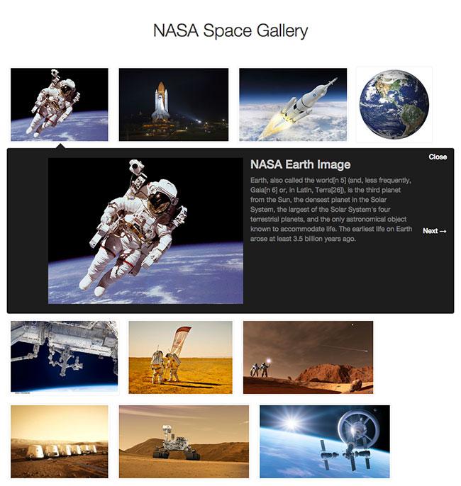 谷歌样式图片画廊屏幕截图