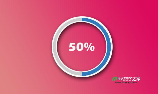 简单实用的纯CSS百分比圆形进度条插件