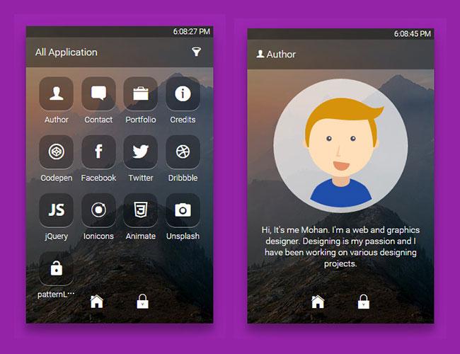 主页 css3库 ui界面设计 > 炫酷手机app解锁动画和界面ui设计   app中