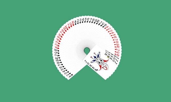 扇形扑克牌